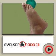 øvelser & fødder knap